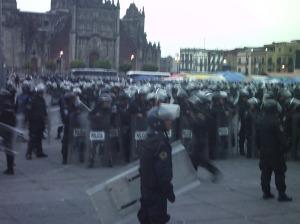 Más granazombies que manifestantes.
