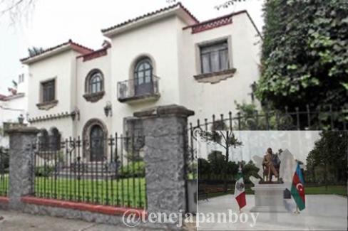 Casa en Reforma Lomas cedida a la embajada de Azerbaijan en México